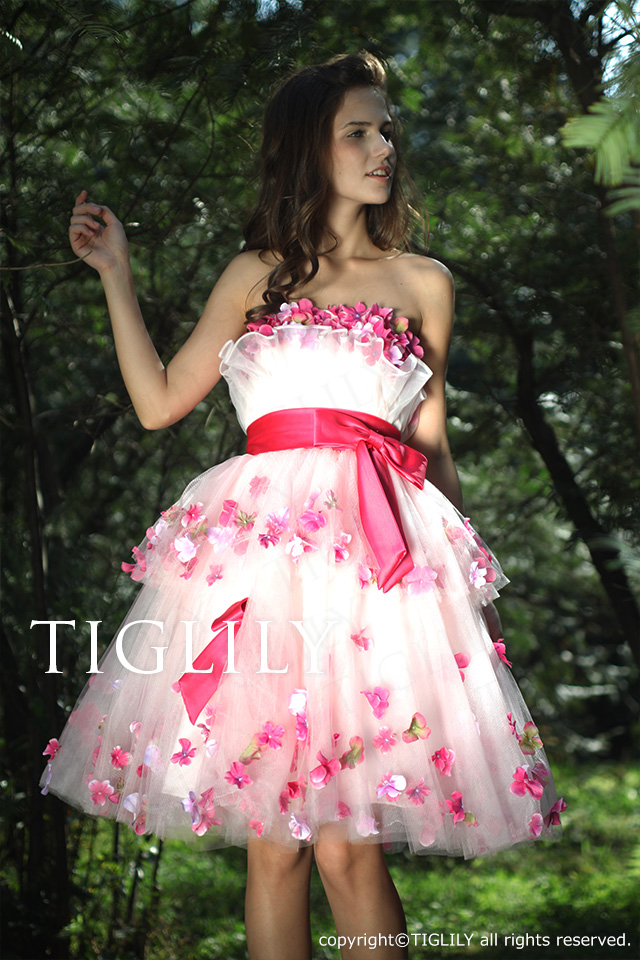 TIGLILY カラーミニドレス