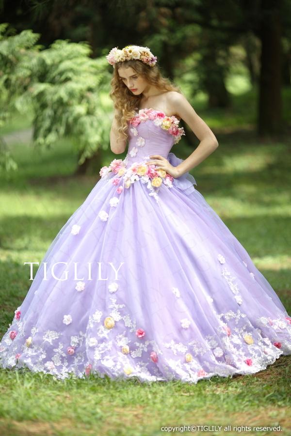 TIGLILY カラードレス c116p