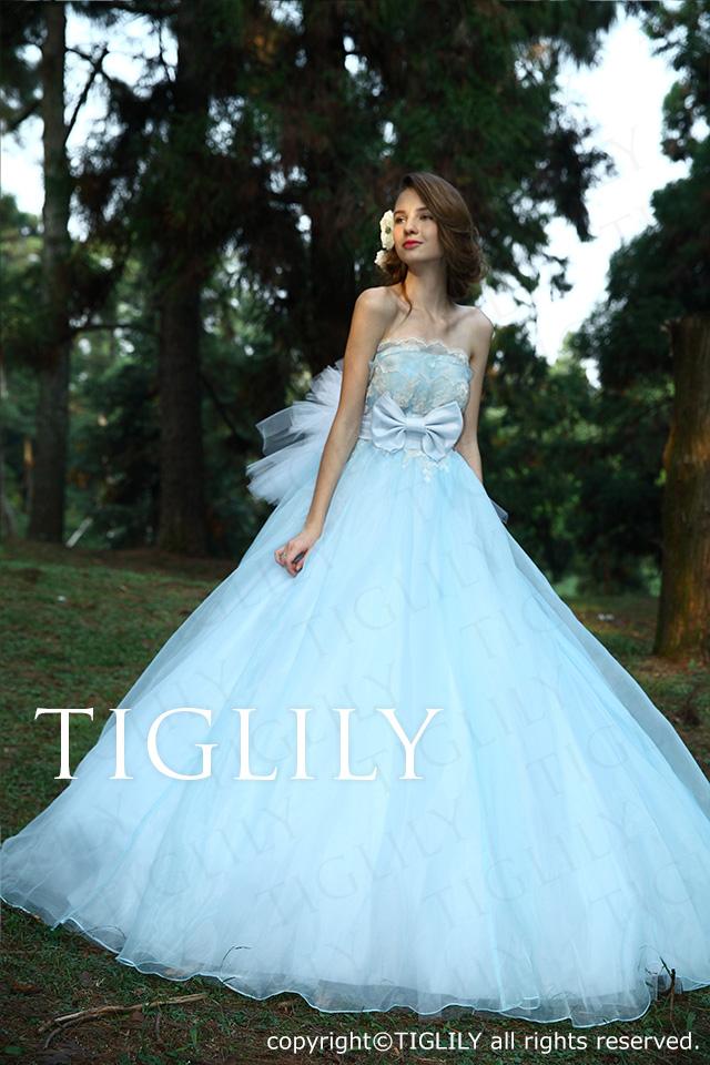 TIGLILY カラードレス Aライン