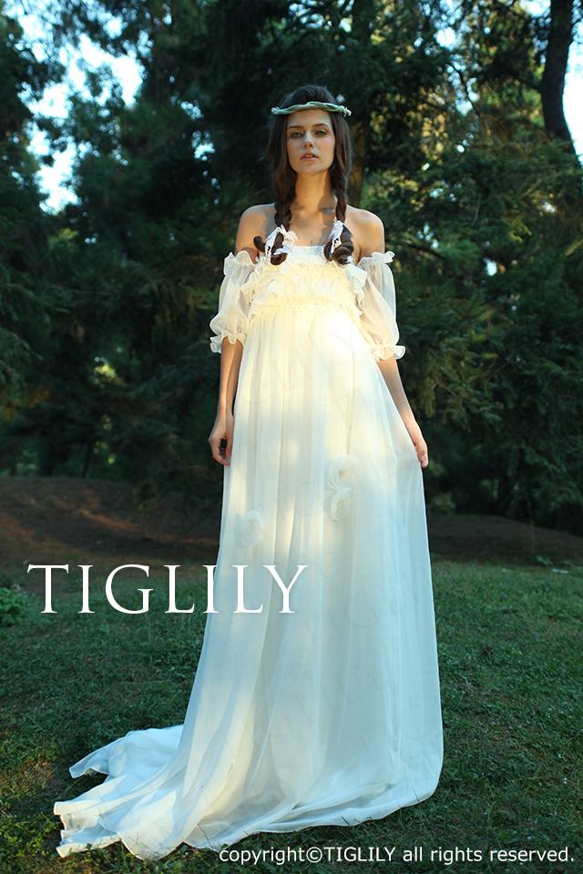 TIGLILY ホワイトドレス w1109