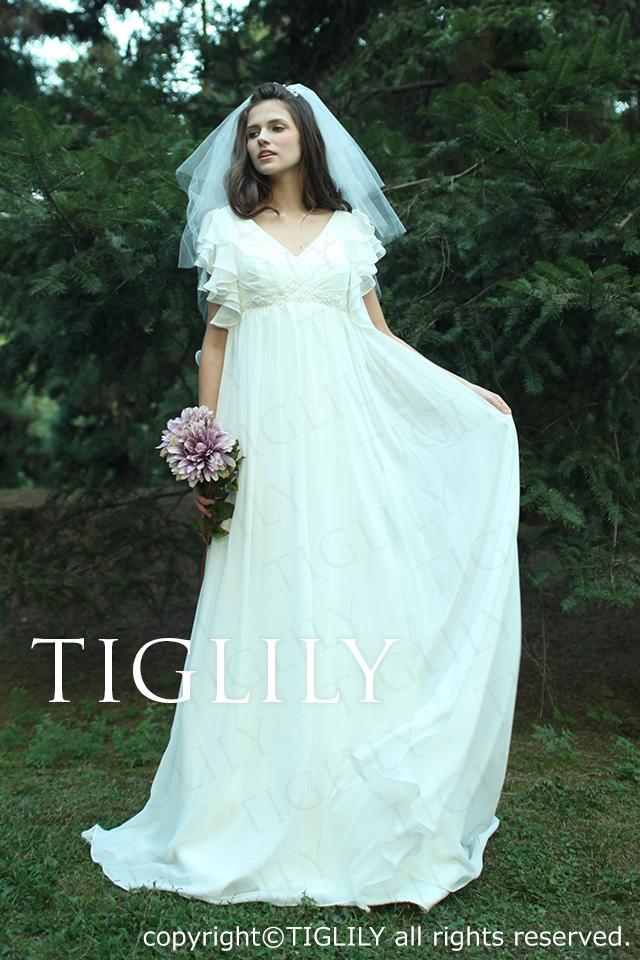 TIGLILY ホワイトドレス w1110