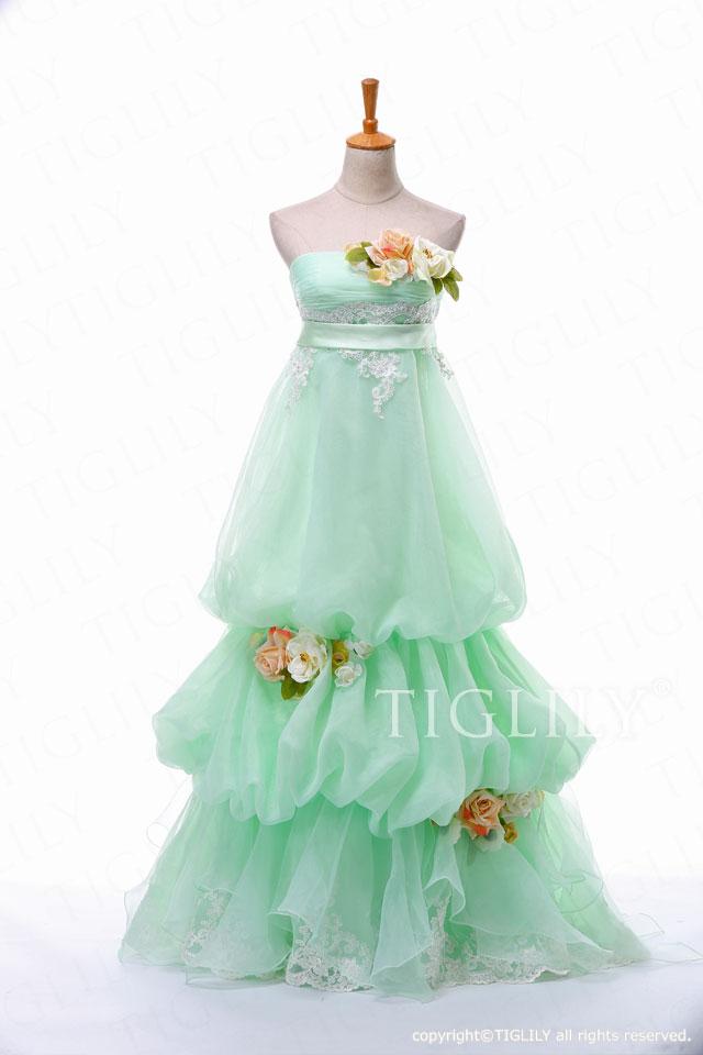 TIGLILY カラードレス w300