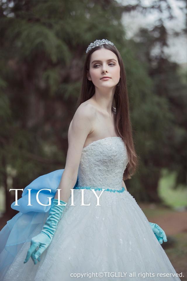 TIGLILY ホワイトドレス ミモレ