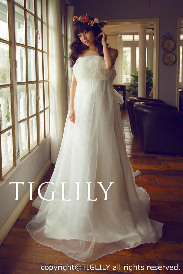 TIGLILY ホワイトドレスw669