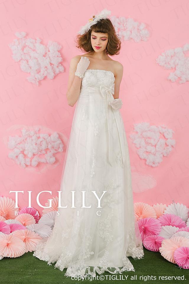 TIGLILY ホワイトドレス wb007