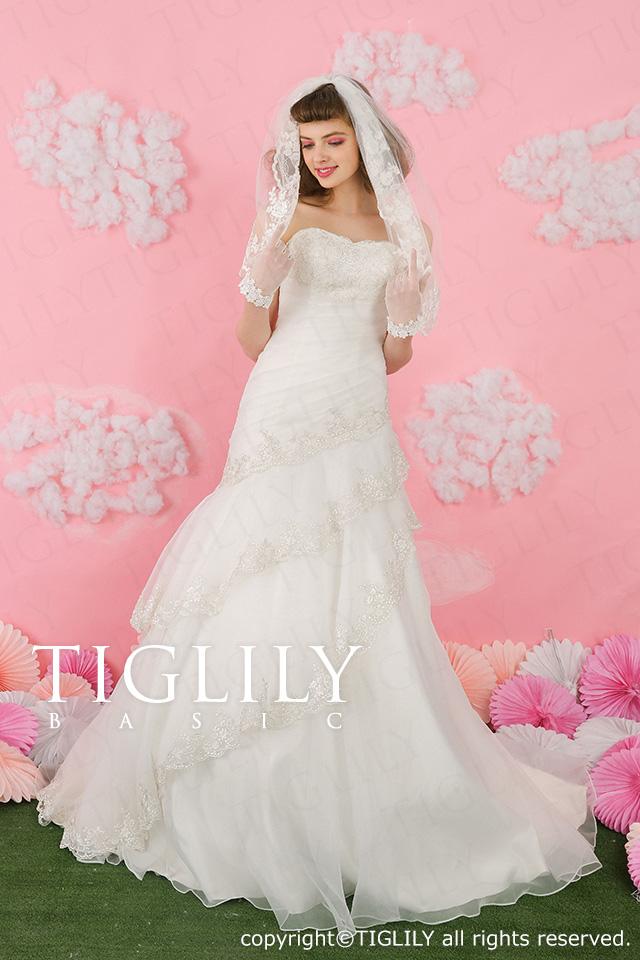 TIGLILY ホワイトドレス マーメイド wb011