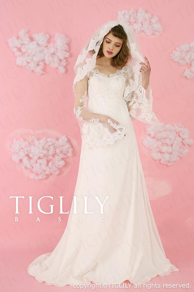 TIGLILY ホワイトドレス wb020