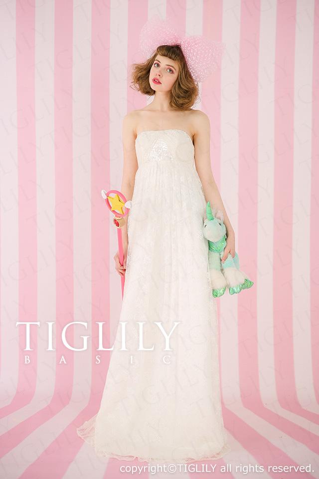 TIGLILY ホワイトドレス wb021